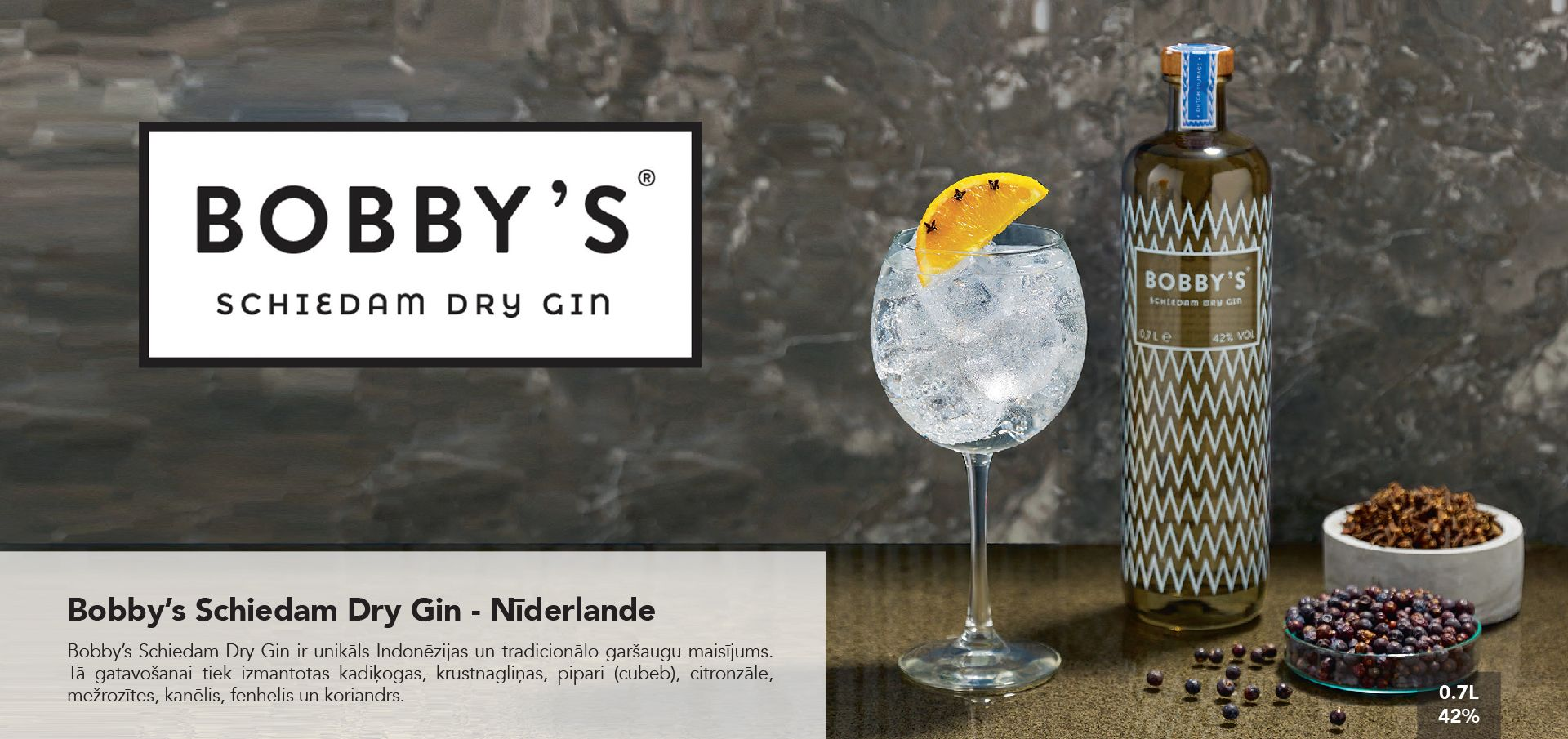 Bobby's Schiedam Dry Gin - Nīderlande