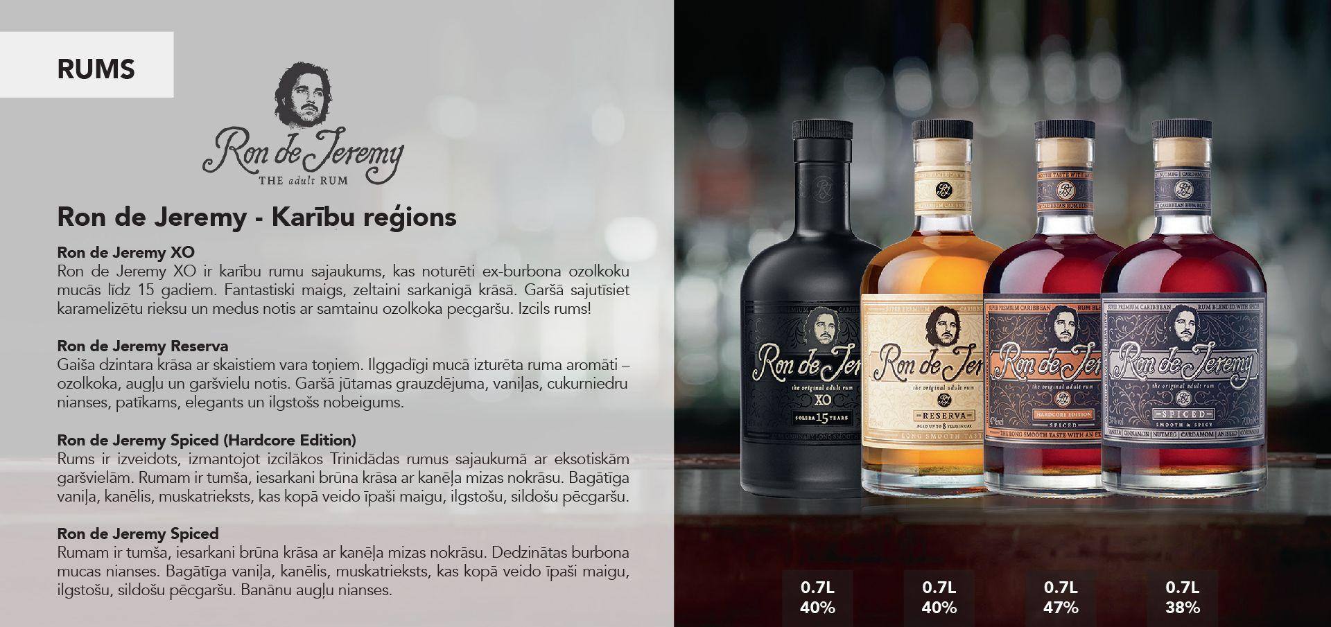 Ron de Jeremy Rum - Karību reģions