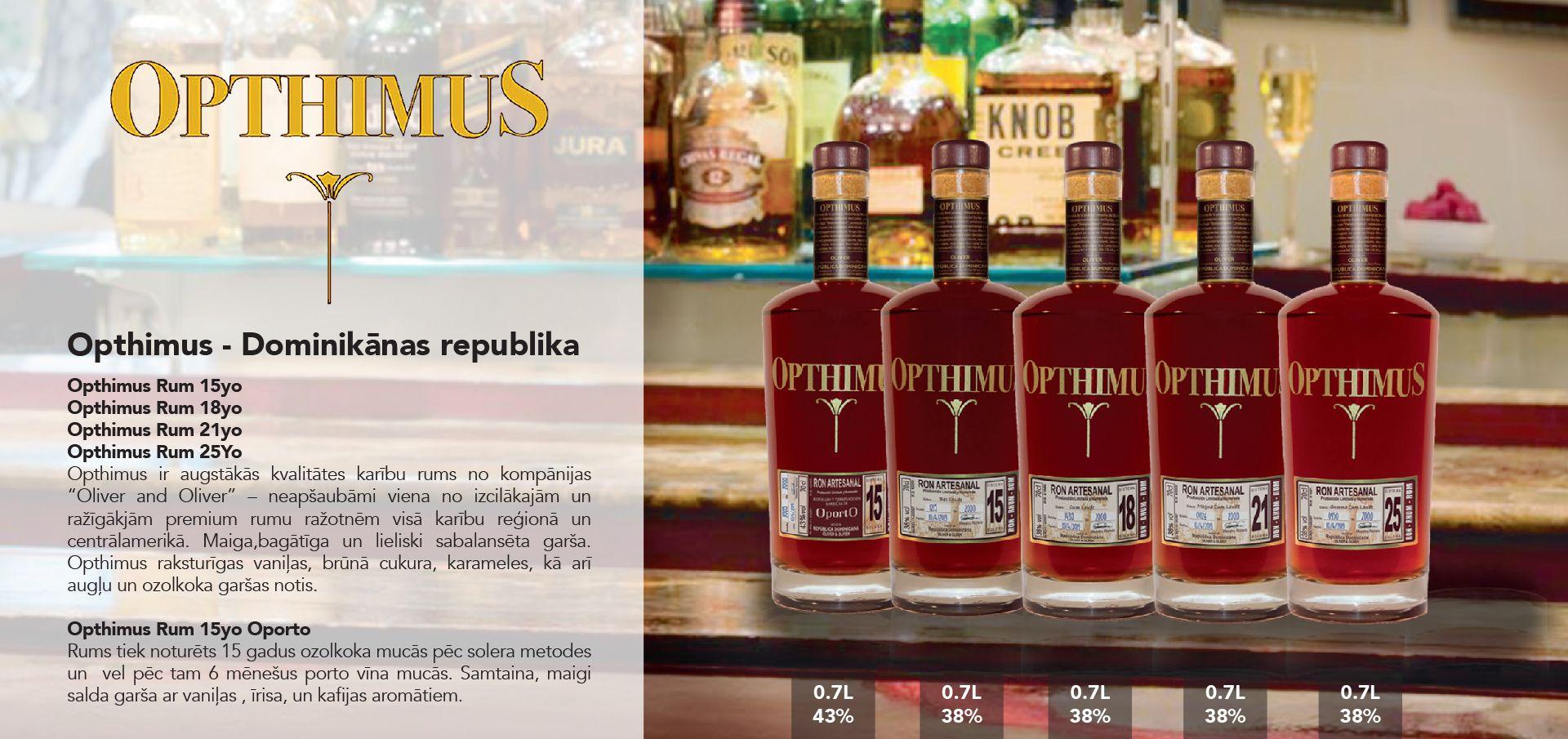 Opthimus Rum - Dominikānas republika