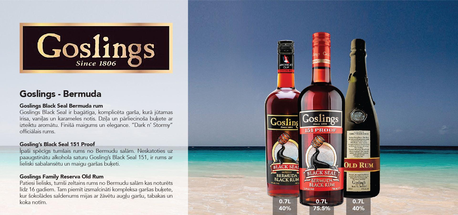 Goslings Rum - Bermuda