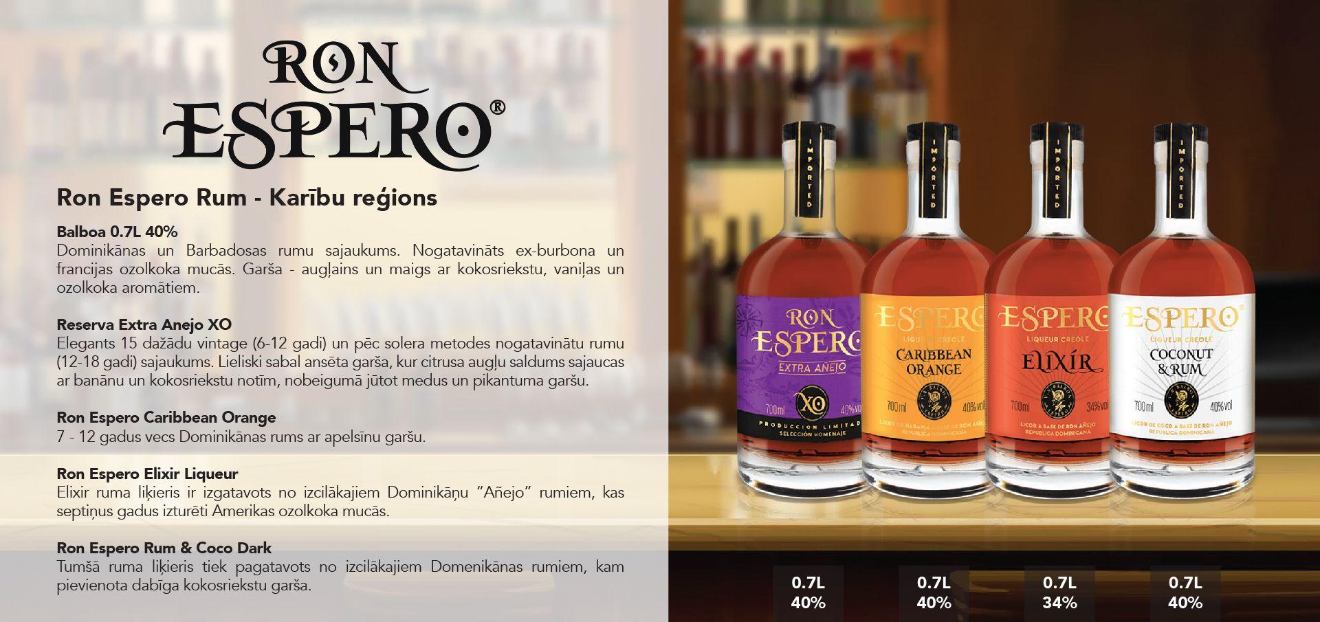 Ron Espero Rum - Karību reģions