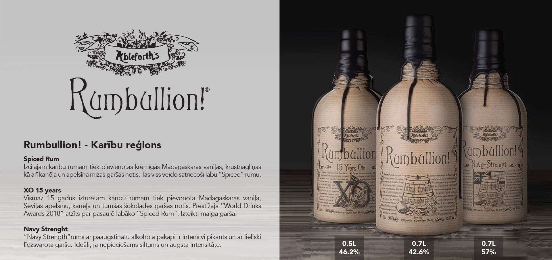Rumbullion!n Rum - Karību reģions