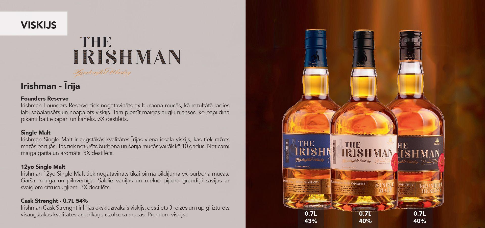 Irishman Whiskey - Īrija